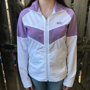 Nike | Purple and White Windbreaker